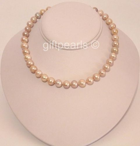 Large round lavender pearls. Amazing value 18 inch necklace. OUT OF STOCK